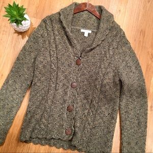 Dressbarn Chunky Cardigan Sweater Size Large